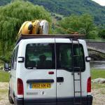 Navigation sur l\'Allier entre Monistrol et Prades