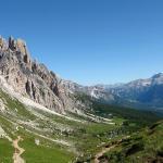 Du col Forata à l\'abri Mondeval, tour du mont Croda da Lago