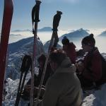 Ski de rando près du Grand Bornant